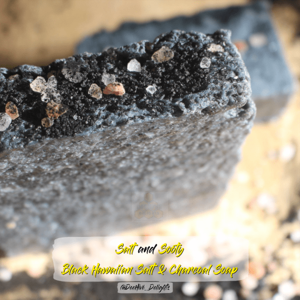 salt and sooty charcoal soap deehive delights