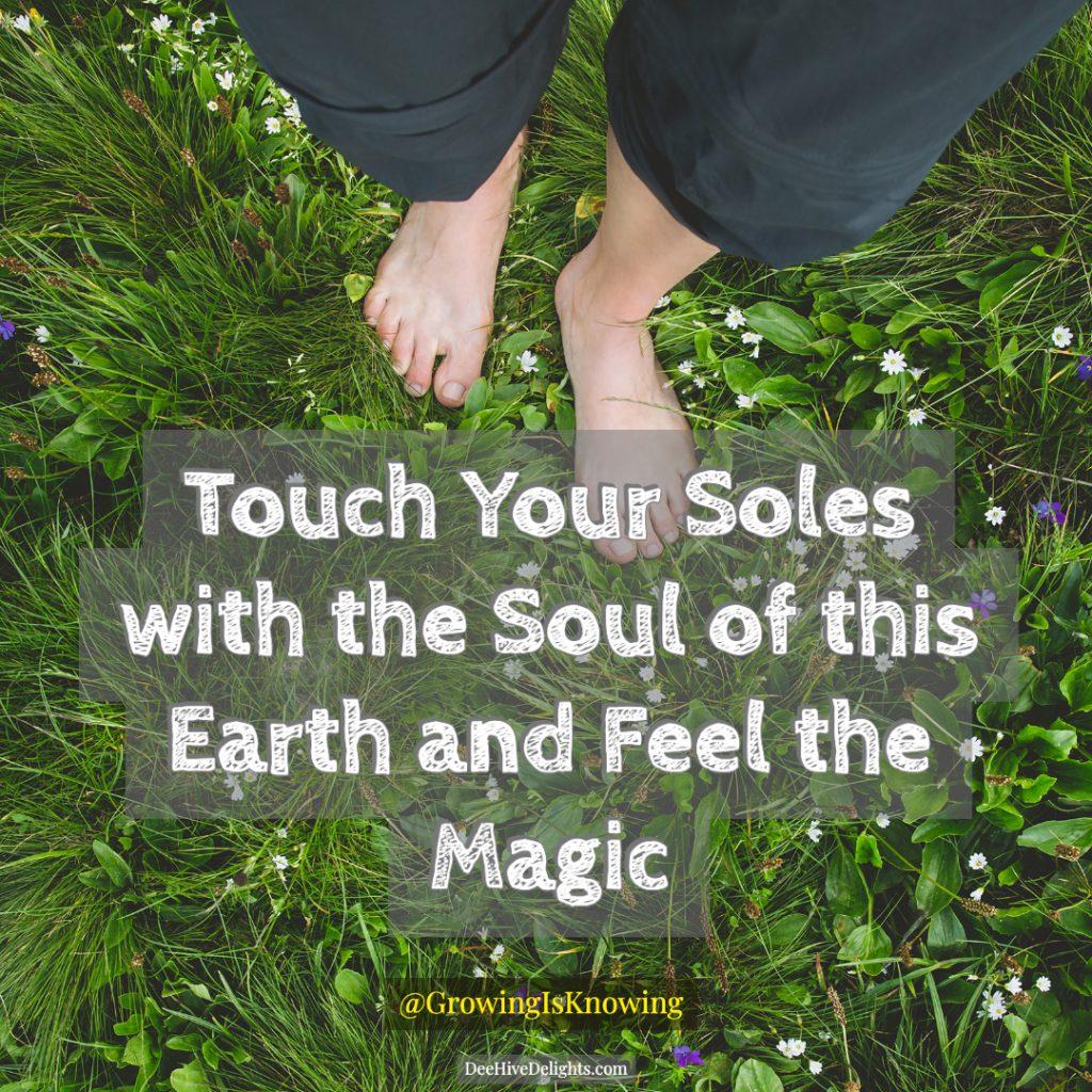 feet on grass grounding
