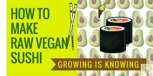 how to make raw vegan sushi recipe video